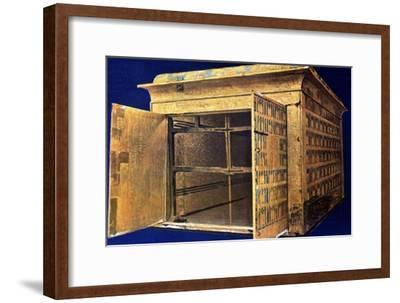 Chest from the tomb of Tutankhamun, 14th century BC. Artist: Unknown-Unknown-Framed Giclee Print