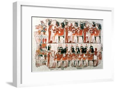 Banquet Scene, 1350 BC. Artist: Unknown-Unknown-Framed Giclee Print