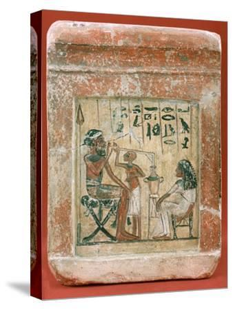 Tomb Stone of a Mercenary, 1350 BC. Artist: Unknown-Unknown-Stretched Canvas Print