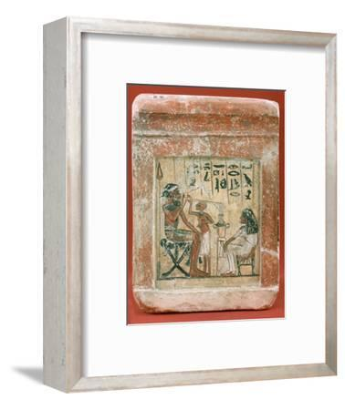 Tomb Stone of a Mercenary, 1350 BC. Artist: Unknown-Unknown-Framed Giclee Print