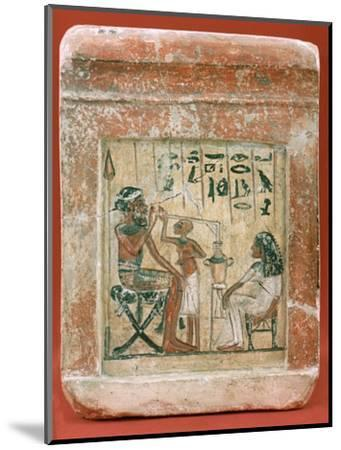 Tomb Stone of a Mercenary, 1350 BC. Artist: Unknown-Unknown-Mounted Giclee Print