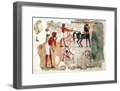 Inspecting the Fields, 1350 BC Artist: Unknown-Unknown-Framed Giclee Print