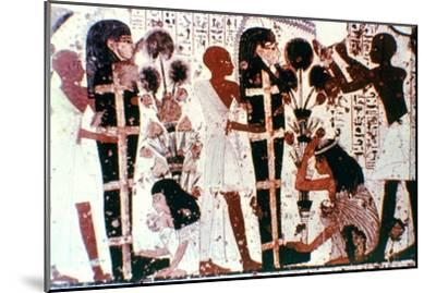 Purification of Mummies, detail from a temple wall painting, Thebes, Egypt. Artist: Unknown-Unknown-Mounted Giclee Print