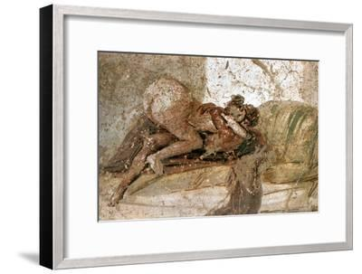 Erotic mural, Pompeii, Italy. Artist: Unknown-Unknown-Framed Giclee Print