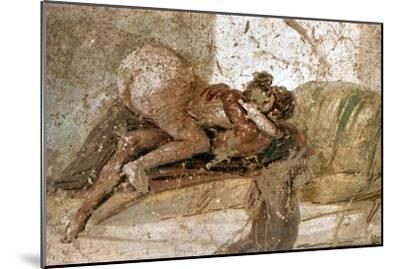 Erotic mural, Pompeii, Italy. Artist: Unknown-Unknown-Mounted Giclee Print