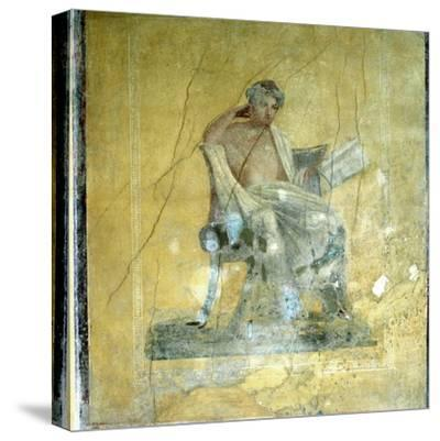 Wall Fresco, House of the Menander, Pompeii. Artist: Unknown-Unknown-Stretched Canvas Print