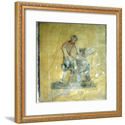 Wall Fresco, House of the Menander, Pompeii. Artist: Unknown-Unknown-Framed Giclee Print