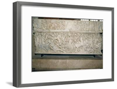 Roman sarcophagus with the legend of Selene and Endymion, 230-235 AD. Artist: Unknown-Unknown-Framed Giclee Print