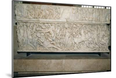 Roman sarcophagus with the legend of Selene and Endymion, 230-235 AD. Artist: Unknown-Unknown-Mounted Giclee Print