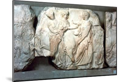 Heifers led to sacrifice, from the south frieze of the Parthenon, 447-432 BC. Artist: Unknown-Unknown-Mounted Giclee Print