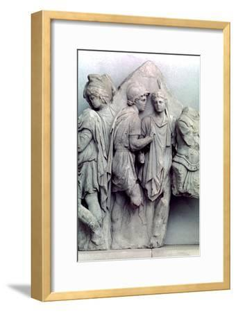 Detail from the Telephus Frieze of the Pergamon altar, 164-156 BC. Artist: Unknown-Unknown-Framed Giclee Print