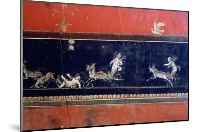 Roman mural, House of the Vettii, Pompeii, Italy. Artist: Unknown-Unknown-Mounted Giclee Print