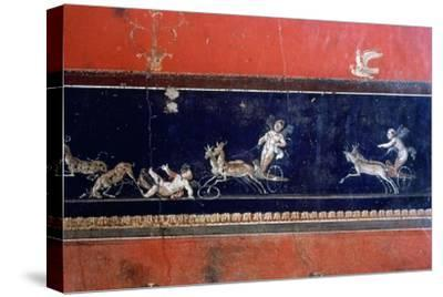 Roman mural, House of the Vettii, Pompeii, Italy. Artist: Unknown-Unknown-Stretched Canvas Print