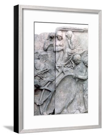 Detail from the Great Frieze of the Pergamon Altar, 180-159 BC. Artist: Unknown-Unknown-Framed Giclee Print