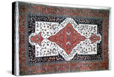 Sarouk rug, Persia. Artist: Unknown-Unknown-Stretched Canvas Print