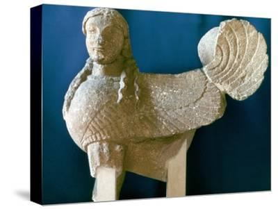Sphinx from Cyprus, 6th century BC. Artist: Unknown-Unknown-Stretched Canvas Print