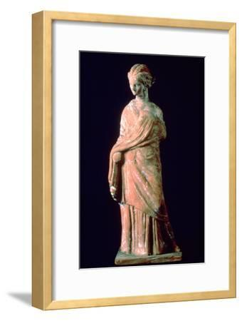 Figure of a woman, Greek, 3rd century. Artist: Unknown-Unknown-Framed Giclee Print