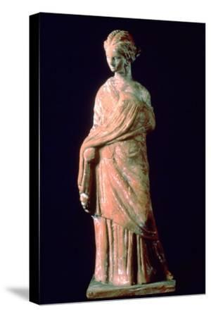 Figure of a woman, Greek, 3rd century. Artist: Unknown-Unknown-Stretched Canvas Print