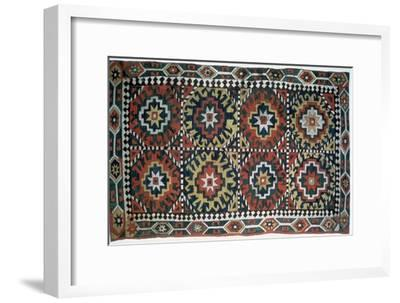 Embroidered cover, Caucasus, 18th century. Artist: Unknown-Unknown-Framed Giclee Print