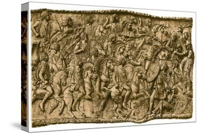 Moorish calvalry under Lusius Quietus fighting against the Dacians, (1902). Artist: Unknown-Unknown-Stretched Canvas Print