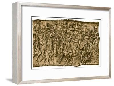 Moorish calvalry under Lusius Quietus fighting against the Dacians, (1902). Artist: Unknown-Unknown-Framed Giclee Print