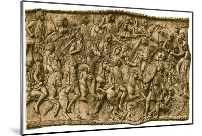 Moorish calvalry under Lusius Quietus fighting against the Dacians, (1902). Artist: Unknown-Unknown-Mounted Giclee Print
