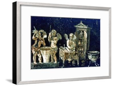 Roman mural, House of the Vettii, Pompeii, Italy. Artist: Unknown-Unknown-Framed Giclee Print