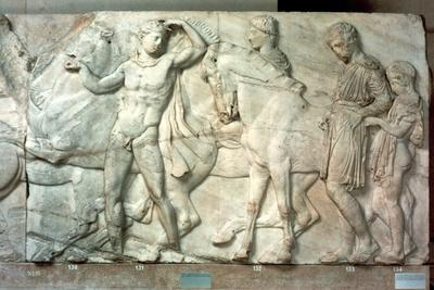 Horsemen from the Parthenon frieze, 438-432 BC. Artist: Unknown-Unknown-Framed Giclee Print