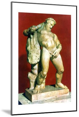 Roman statue of a drunken Hercules. Artist: Unknown-Unknown-Mounted Giclee Print
