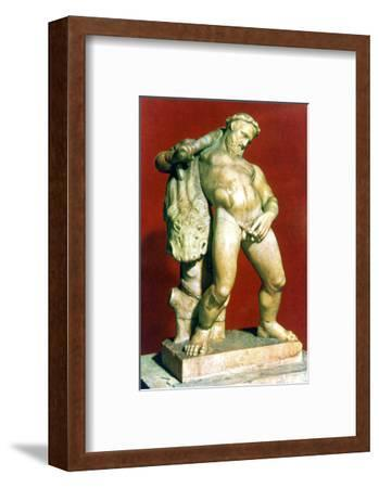 Roman statue of a drunken Hercules. Artist: Unknown-Unknown-Framed Giclee Print