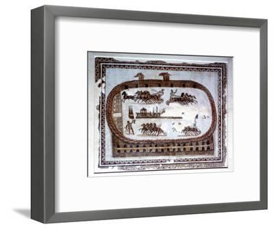 Games, Roman mosaic from Carthage, 2nd century AD. Artist: Unknown-Unknown-Framed Giclee Print