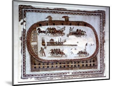 Games, Roman mosaic from Carthage, 2nd century AD. Artist: Unknown-Unknown-Mounted Giclee Print