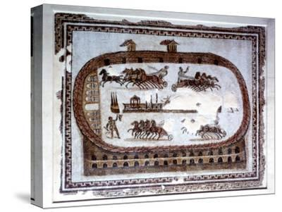 Games, Roman mosaic from Carthage, 2nd century AD. Artist: Unknown-Unknown-Stretched Canvas Print