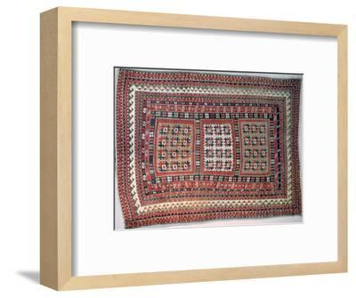 Cossack rug, Bordjalou district, Caucasus. Artist: Unknown-Unknown-Framed Giclee Print