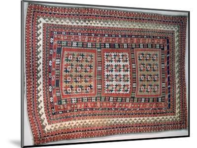 Cossack rug, Bordjalou district, Caucasus. Artist: Unknown-Unknown-Mounted Giclee Print