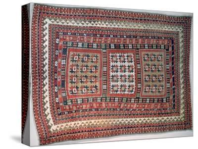 Cossack rug, Bordjalou district, Caucasus. Artist: Unknown-Unknown-Stretched Canvas Print