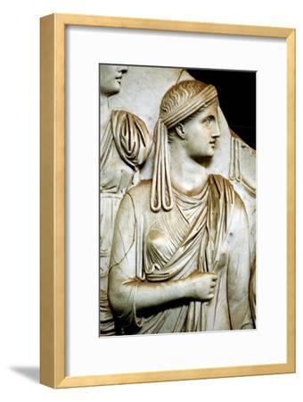 Vestal virgin, Roman, 1st century AD. Artist: Unknown-Unknown-Framed Giclee Print