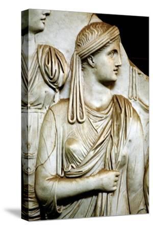 Vestal virgin, Roman, 1st century AD. Artist: Unknown-Unknown-Stretched Canvas Print