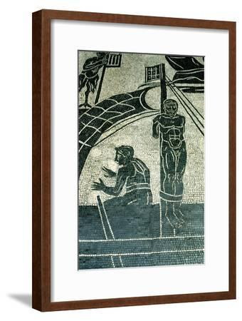 Ulysses and the sirens, 2nd century AD. Artist: Unknown-Unknown-Framed Giclee Print