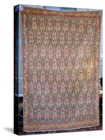 Senneh carpet, Iran, 19th century. Artist: Unknown-Unknown-Stretched Canvas Print