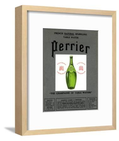 Advertisement for Perrier water, 1905. Artist: Unknown-Unknown-Framed Giclee Print