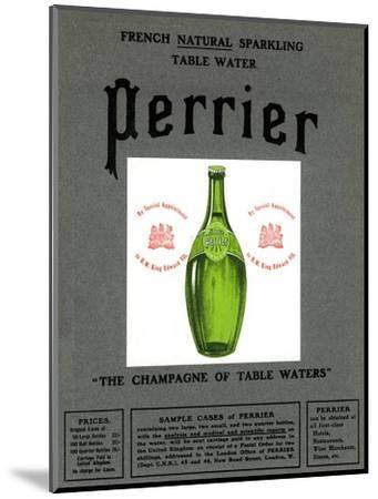 Advertisement for Perrier water, 1905. Artist: Unknown-Unknown-Mounted Giclee Print