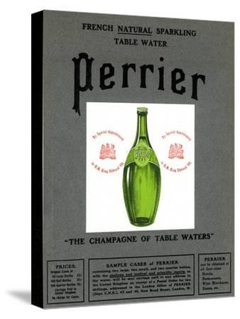 Advertisement for Perrier water, 1905. Artist: Unknown-Unknown-Stretched Canvas Print
