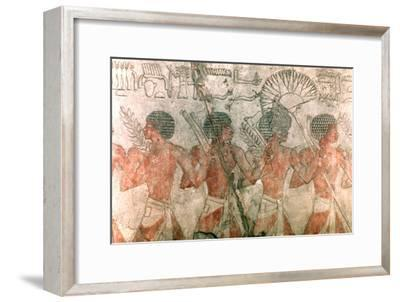Relief with Soldiers, Temple of Hatschepsut. Artist: Unknown-Unknown-Framed Giclee Print
