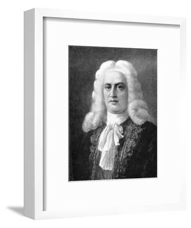 George Frideric Handel, (1685-1759), German Baroque composer, 1909. Artist: Unknown-Unknown-Framed Giclee Print