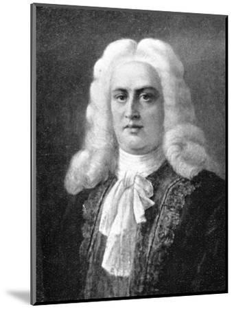 George Frideric Handel, (1685-1759), German Baroque composer, 1909. Artist: Unknown-Unknown-Mounted Giclee Print