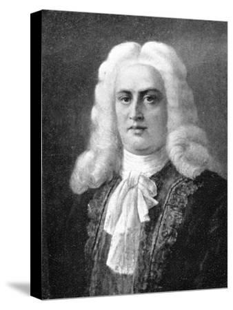 George Frideric Handel, (1685-1759), German Baroque composer, 1909. Artist: Unknown-Unknown-Stretched Canvas Print