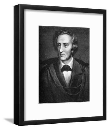 Felix Mendelssohn, (1809-1847), German composer, 1909. Artist: Unknown-Unknown-Framed Giclee Print