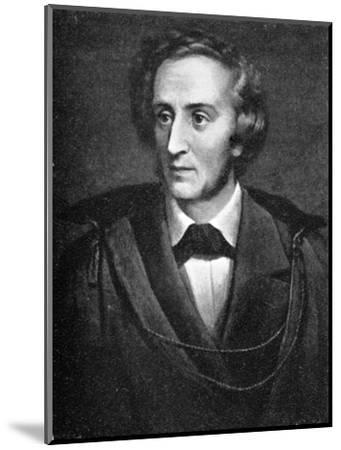 Felix Mendelssohn, (1809-1847), German composer, 1909. Artist: Unknown-Unknown-Mounted Giclee Print