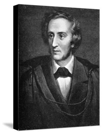 Felix Mendelssohn, (1809-1847), German composer, 1909. Artist: Unknown-Unknown-Stretched Canvas Print